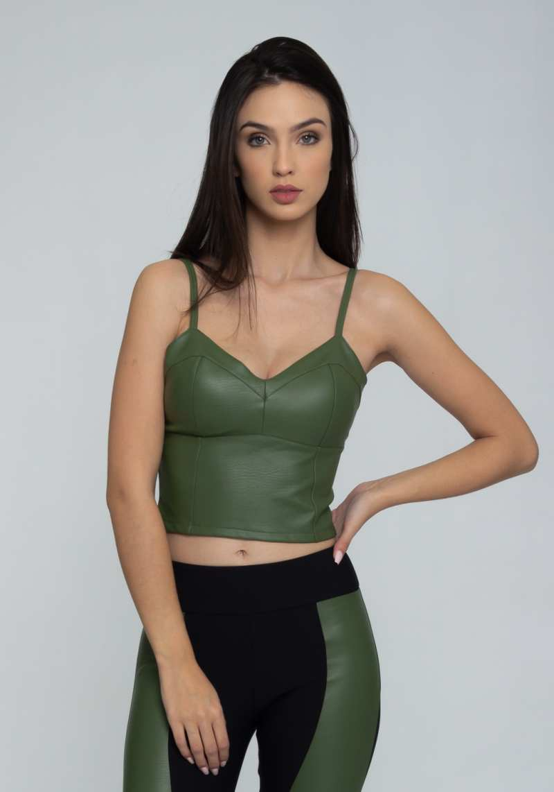 Blusa Cropped 301262 Verde 08